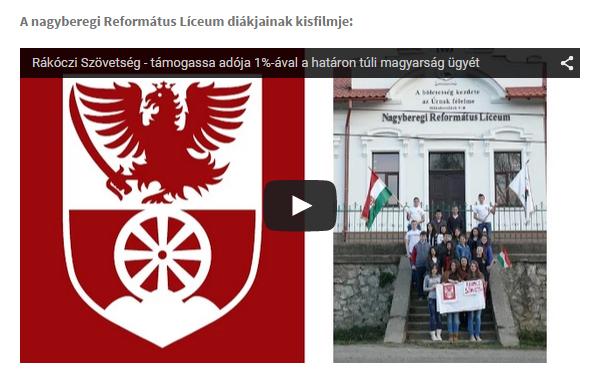 A Nagyberegi Református Líceum diákjainak kisfilmje
