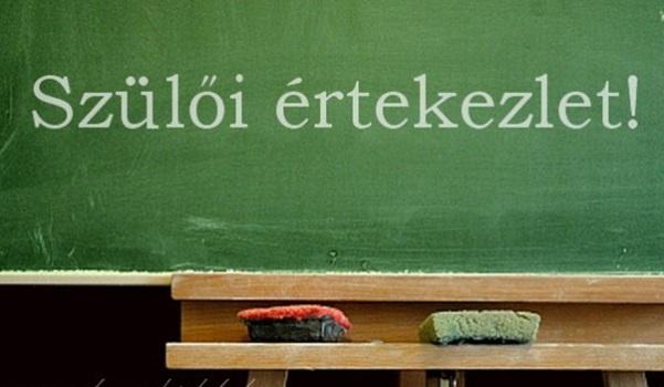 Szülői értekezlet (új diákok és szüleik számára)
