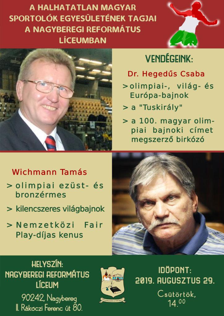 Halhatatlan Magyar Sportolók a Nagyberegi Református Líceumban